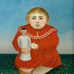 一窥原始本性——拿玩偶的孩子 by 亨利·卢梭