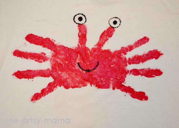 Summer Fun Camp Diy Crab Shirt At One Artsy Mama