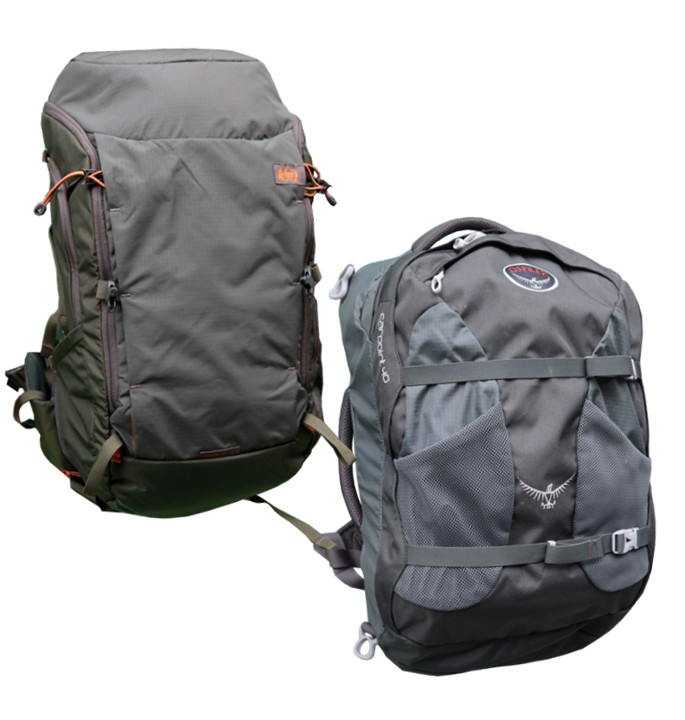 new photos fashion style huge inventory REI Ruckpack 40 vs Osprey Farpoint 40 - One Bag Travels