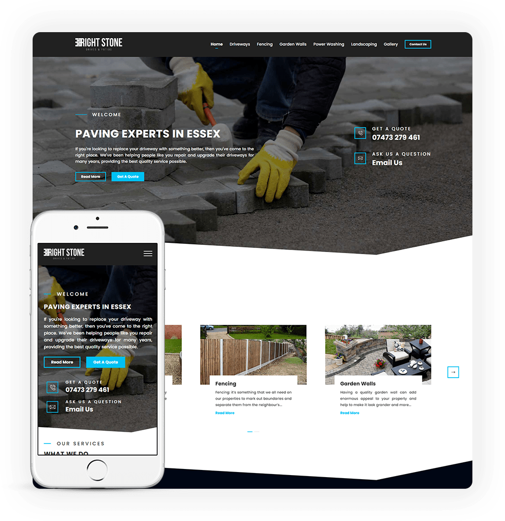 paving and driveway web design