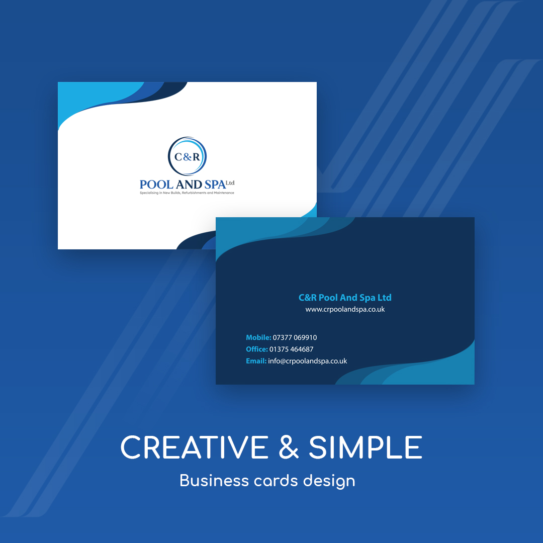pool spa business card design