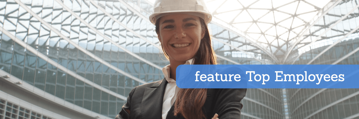 feature your top construction employees on your website