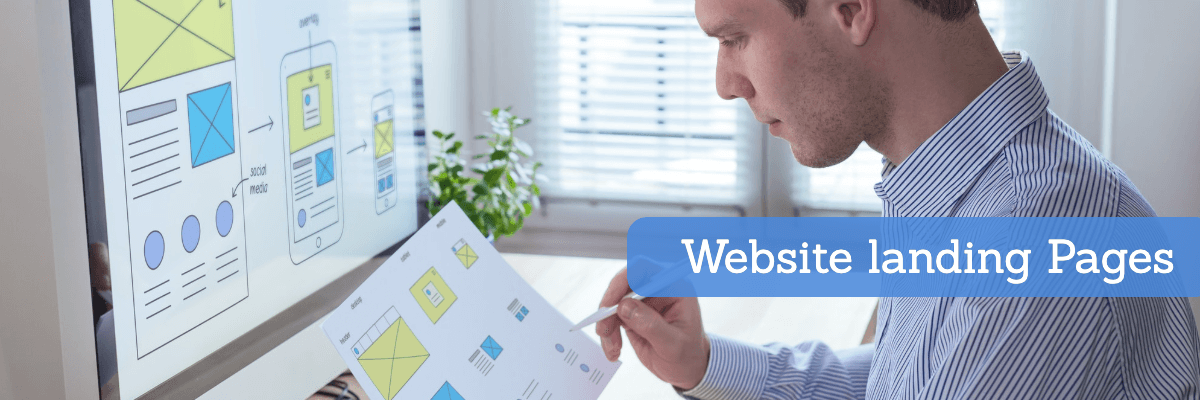 website landing pages for construction business