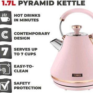 Tower 1.7L Cavaletto Pyramid Kettle Pink