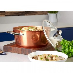 Copper Forged 24cm Casserole Pan