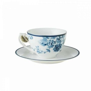 Laura Ashley China Rose Cappuccino Cup and Saucer