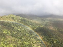 A rainbow on the helicopter tour
