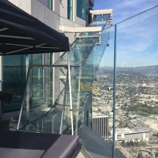 Sky slide! 71 storey high slide @ Skyspace, LA