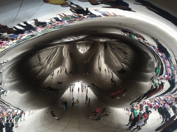 Cloud Gate, better know as the bean in Chicago