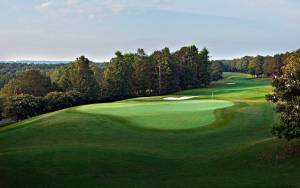 One of the many lovely vistas from the 17th hole of the Ridge course.