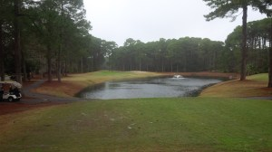 The par 3 11th hole was one of only a handful of holes with water truly in play, a decidedly un-Hilton Head characteristic if there ever was one.