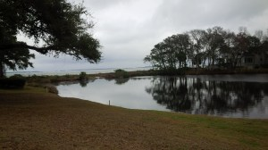 This spectacular view of Port Royal Sound awaits each golfer as the approach the green of the par 3 6th hole.