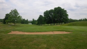 A look back down the fairway from the elevated 15th green.