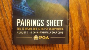 With so many golfers on the course on Friday, the pairing sheet was my most valuable possession.