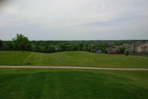 "The ""view"" of the 12th hole from where I teed up my ball."