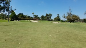 In classic style, the first hole at La Costa's Champions Course is a relatively simple, disarming warm-up hole.