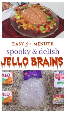 halloween food jello brains