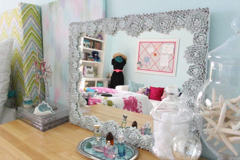 DIY Mirror Frame - White Mirror Frame