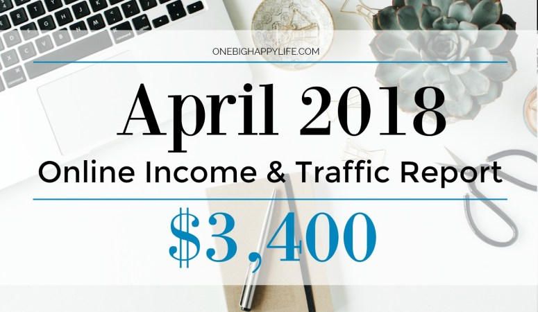 April 2018 Traffic and Income Report – $3,400