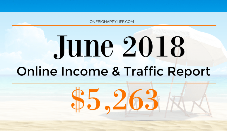 Blogging and YouTube Income Report – June 2018