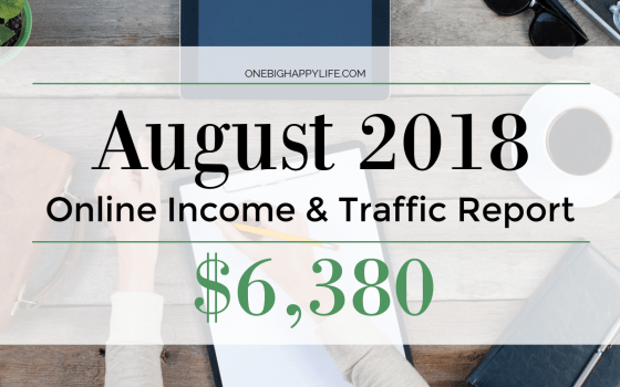 August Online Income and Traffic Report