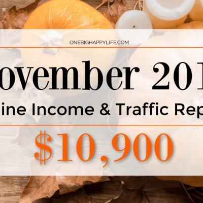November 2018 Online Income & Traffic Report