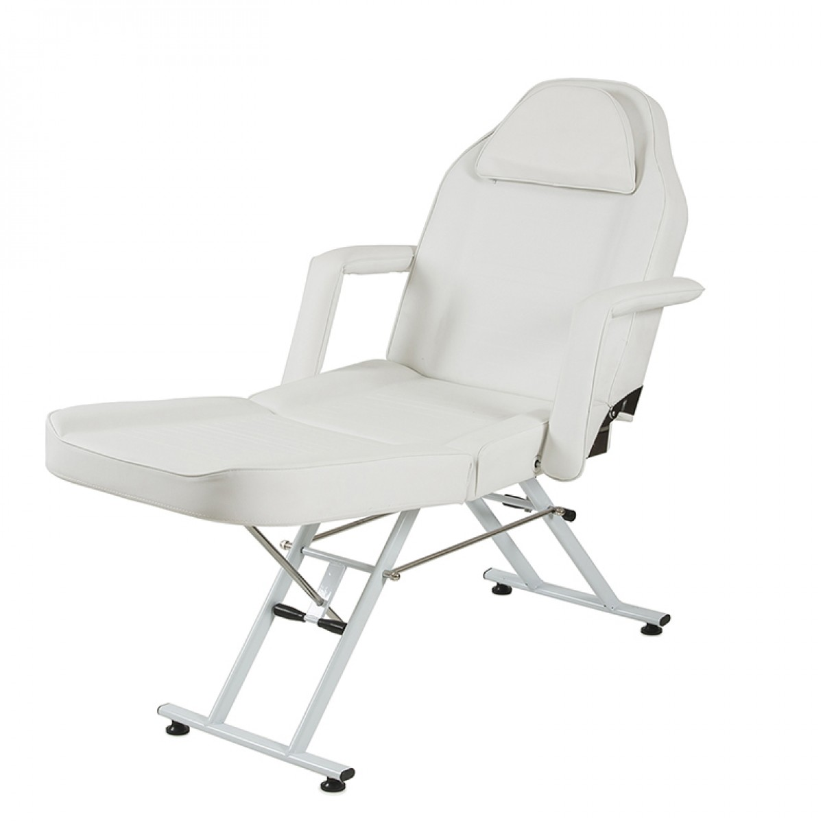 white multi purpose salon chair red cushions massage facial bed adjustable table beauty spa