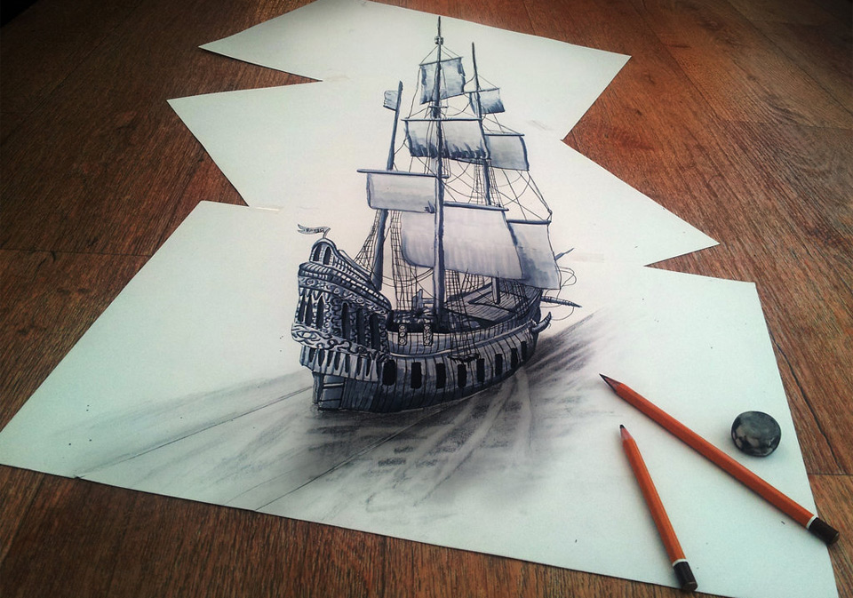 mind blowing 3d drawing