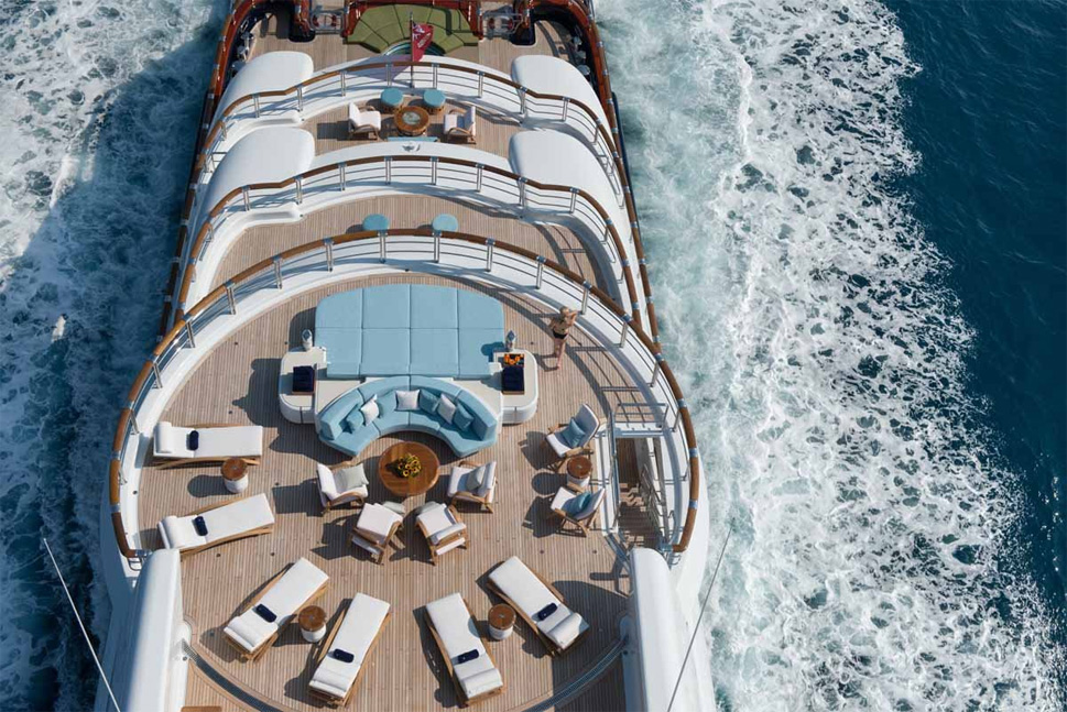 top deck of $300 million yacht nirvana