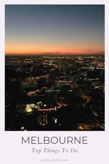 5 best things in Melbourne Australia pin