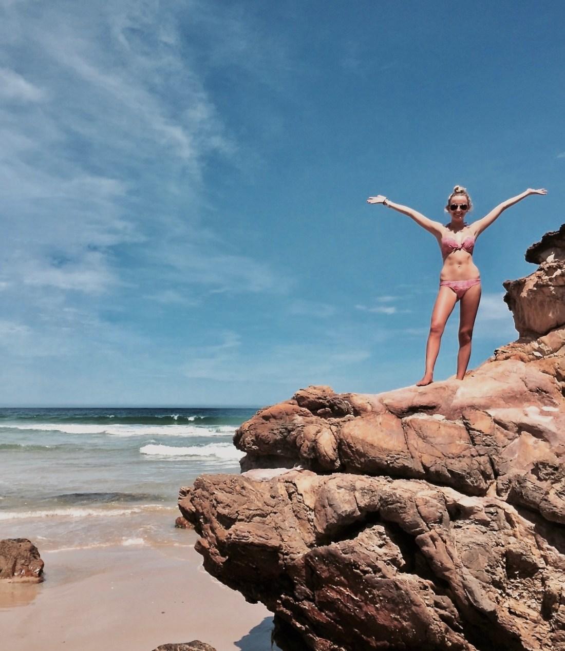 One Blonde Brit at Betka Beach Mallacoota