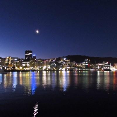 Wellington Harbour City Lights, New Zealand