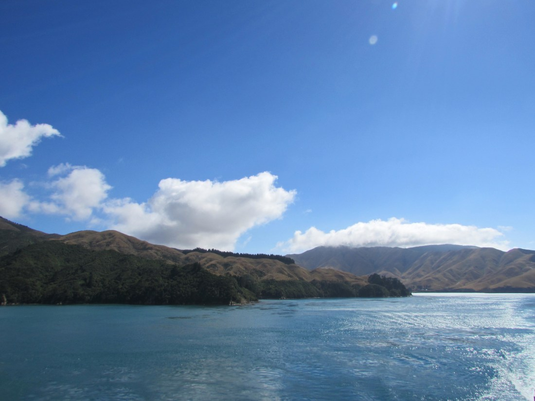 Between North and South Islands New Zealand