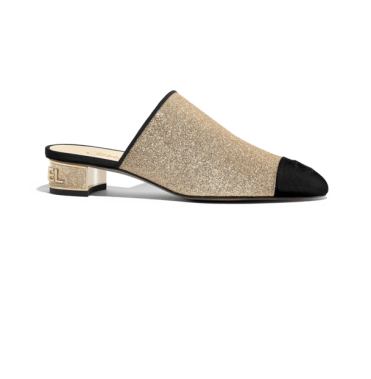 Chanel Glitter Mules