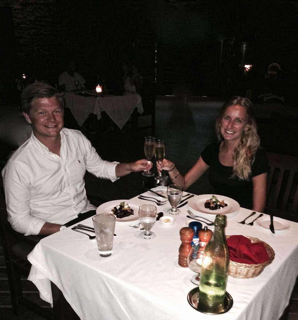 Couple dining at Paradise Cove Resort