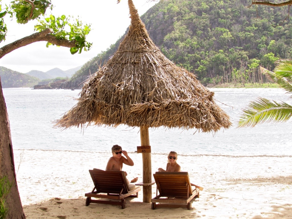 Couples private beach access Fiji