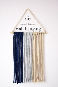 DIY macrame wall hanging - One Brass Fox