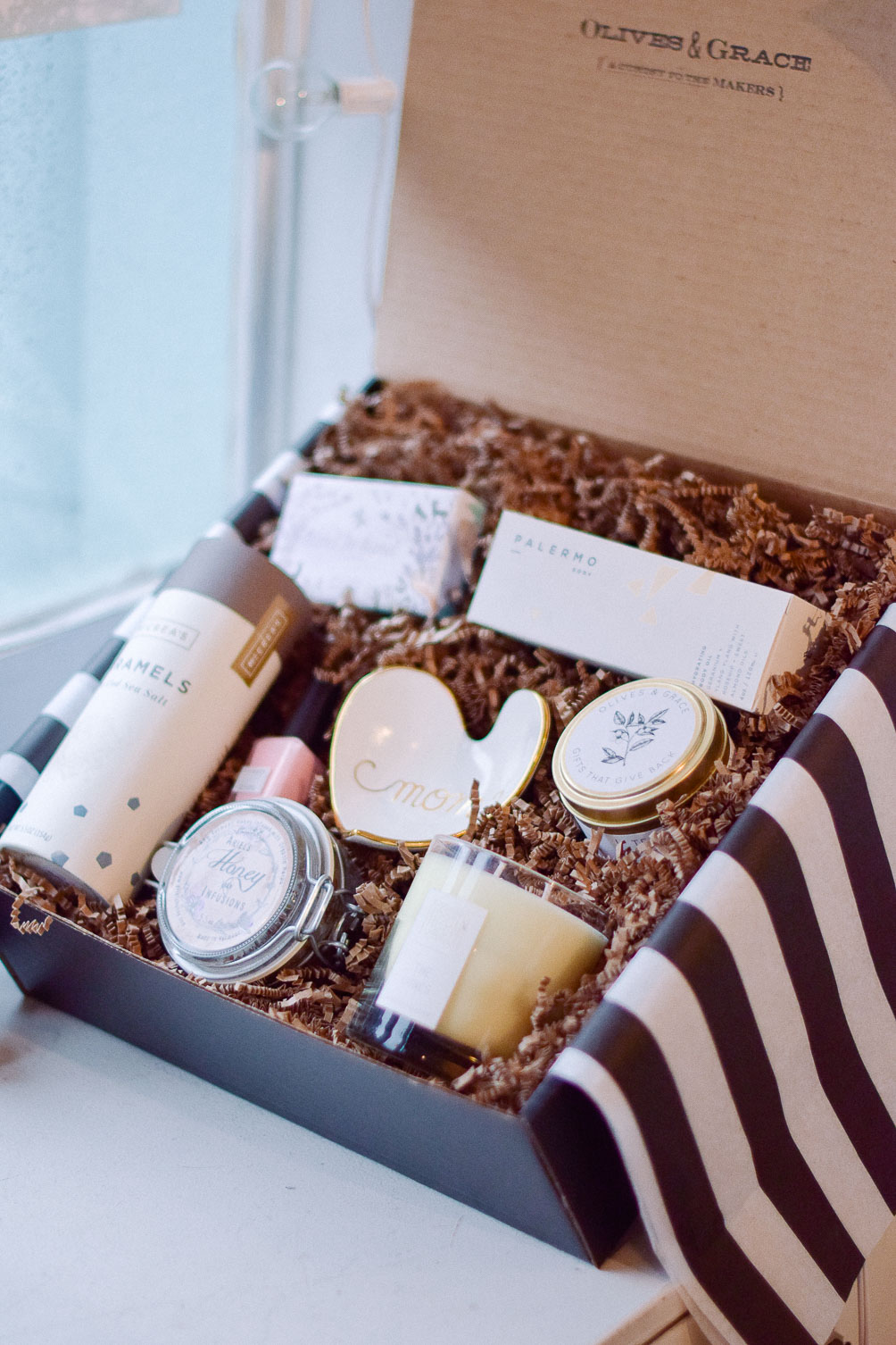 gift box ideas for mothers day  One Brass Fox