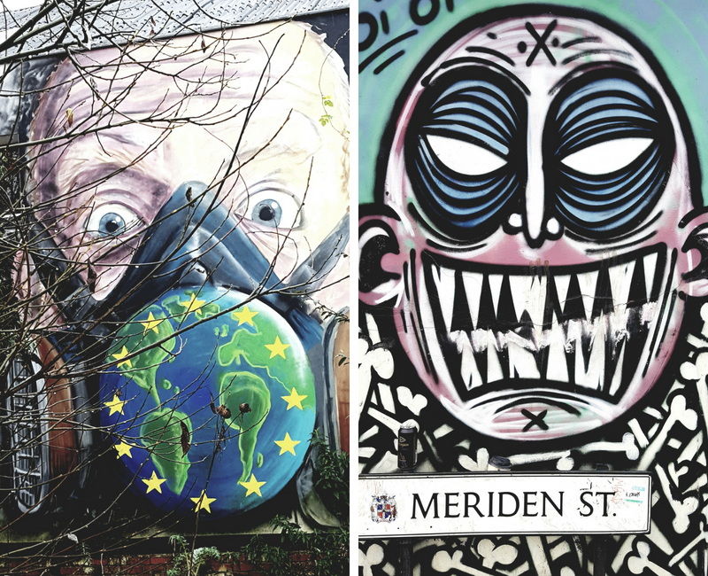 Graffiti by Stencil Shed and Angry Face