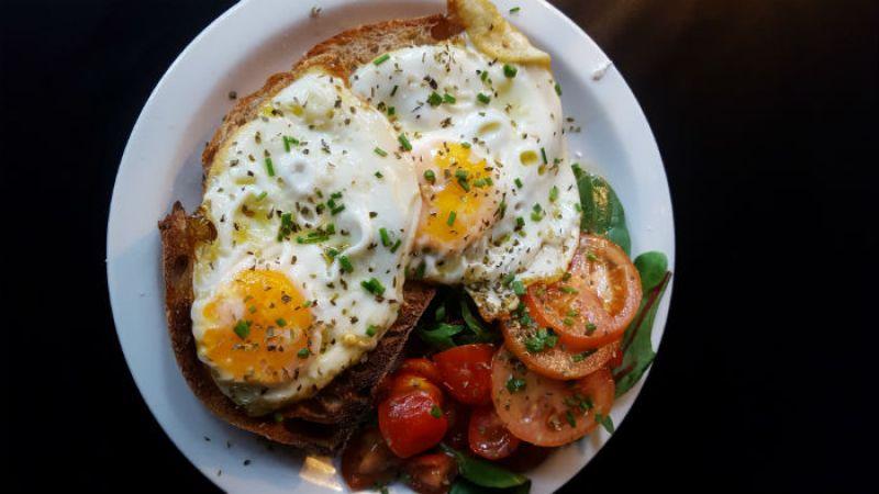 Greek eggs on sourdough toast