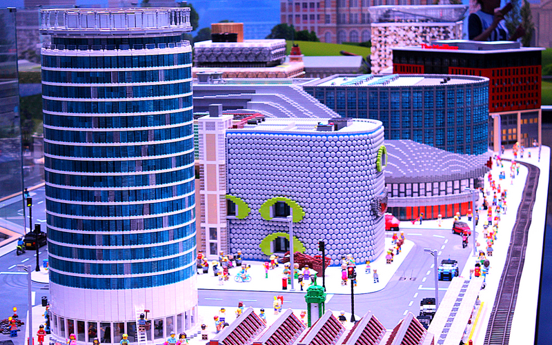 Lego Model of Rotunda and Selfridges