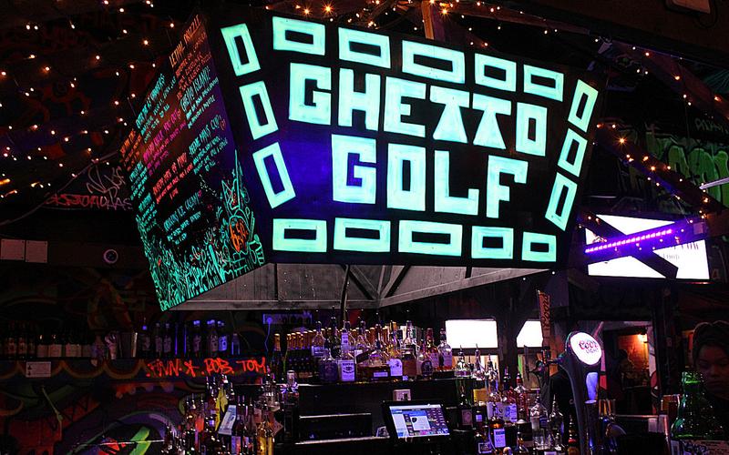 Ghetto Golf Birmingham Bar