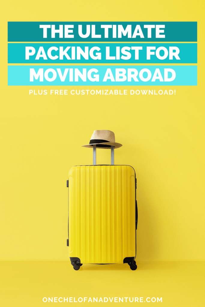 Moving Abroad Packing List for Women