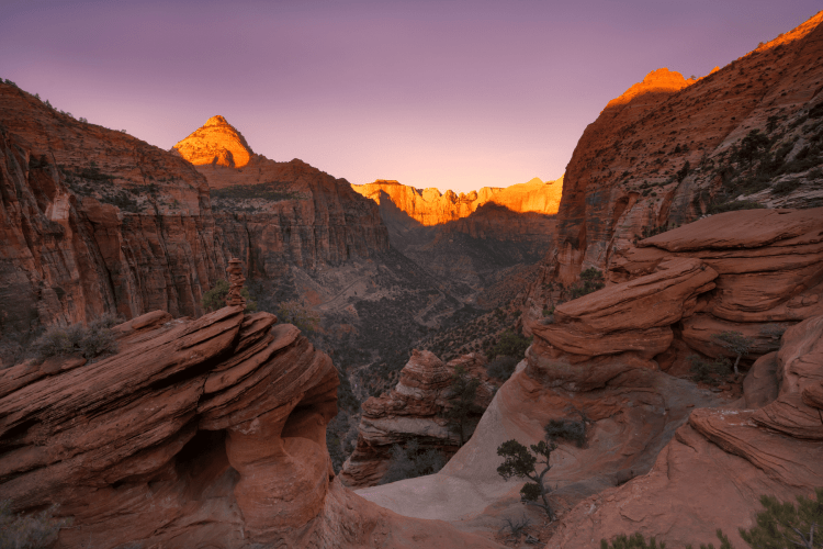 Things not to miss in Zion: Canyon Overlook Trail