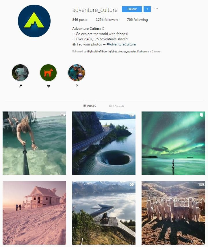 Instagram Accounts That Feature Travel photos- adventureculture