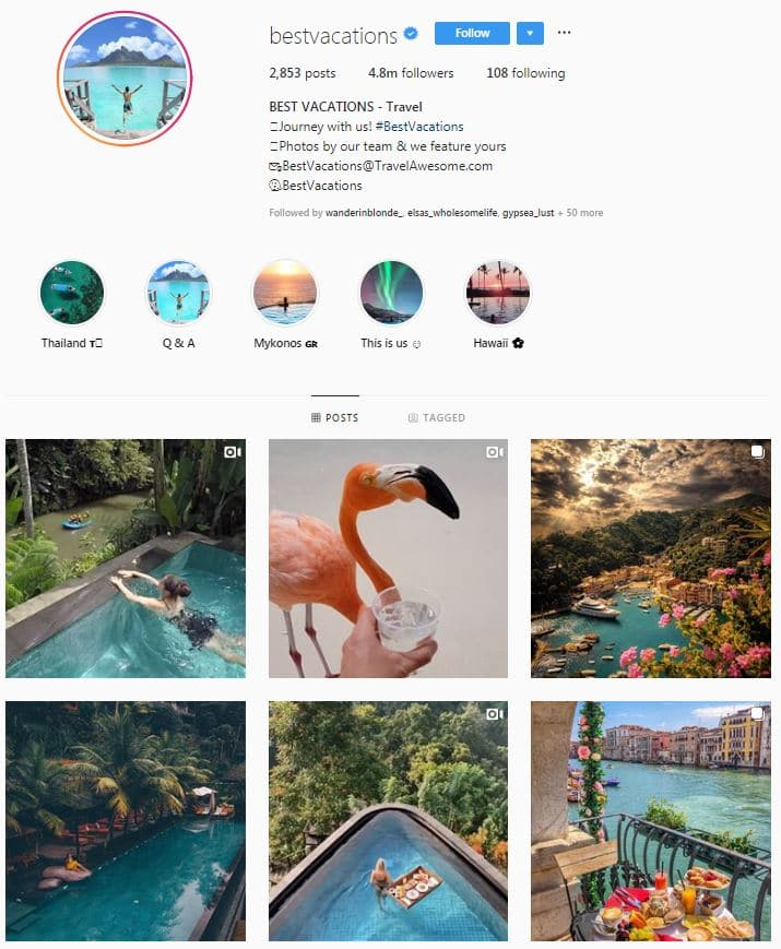 Instagram Accounts That Feature Travel photos-best vacations