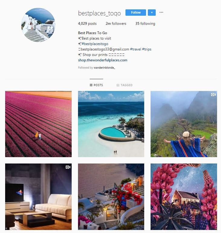 Instagram Accounts That Feature Travel photos- bestpalces