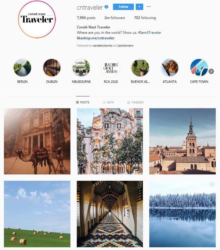 Cn traveler instagram account feature