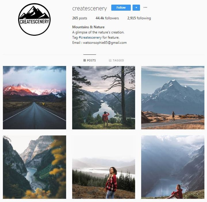 Instagram Accounts That Feature Travel photos- createscenery