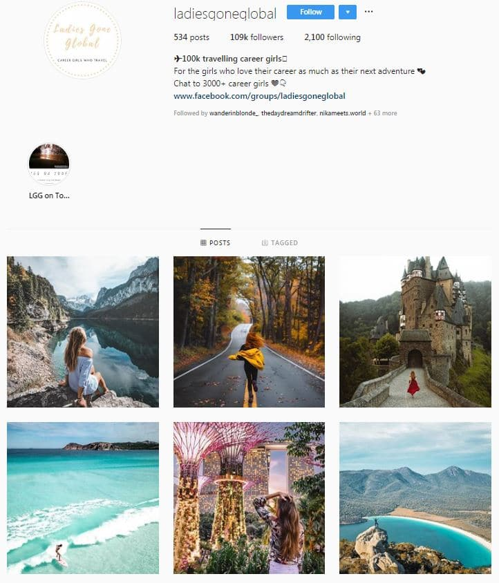 Instagram Accounts That Feature Travel photos-ladiesgoneglobal